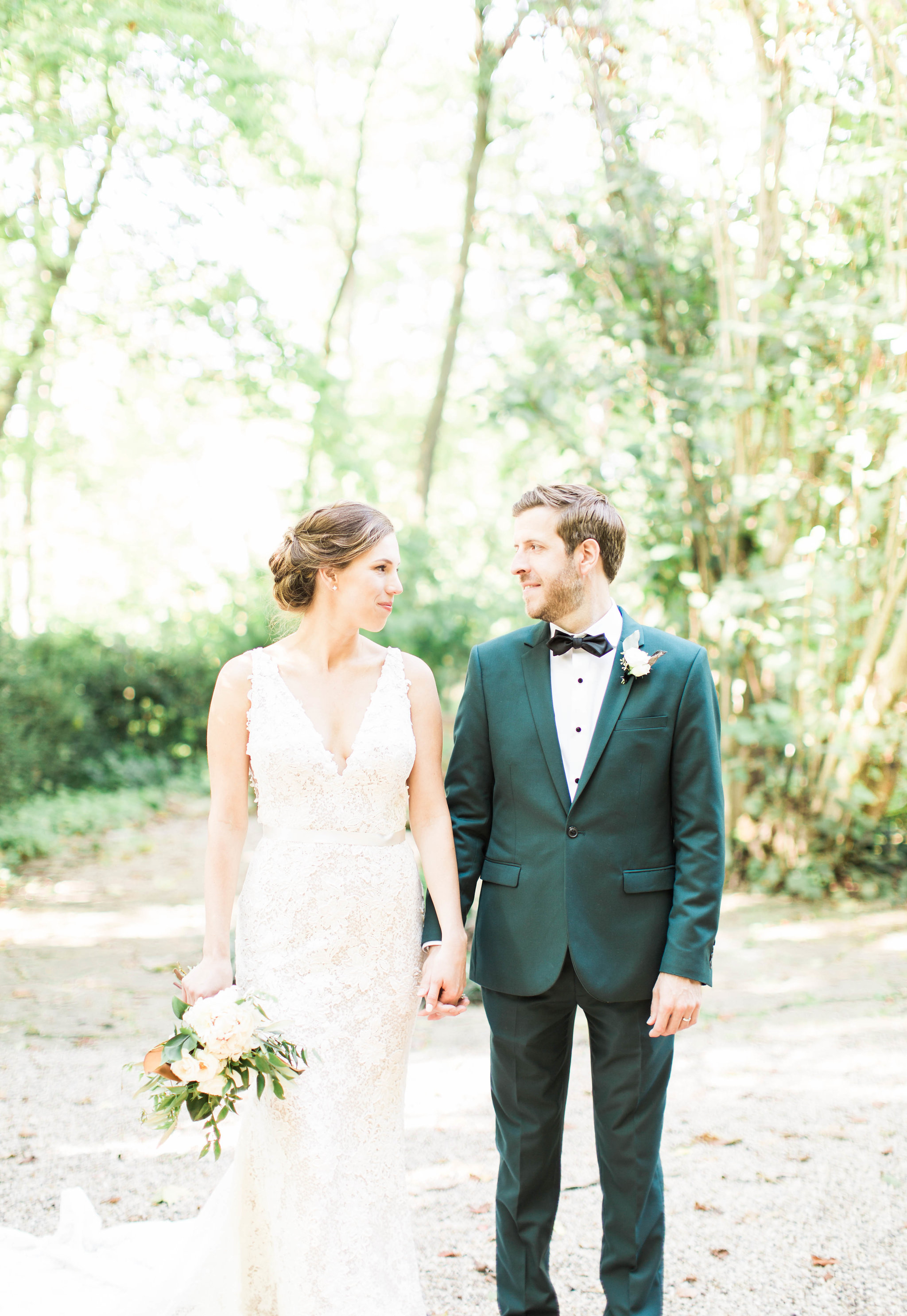 Fernwood Botanical Garden and Nature Preserve wedding portrait