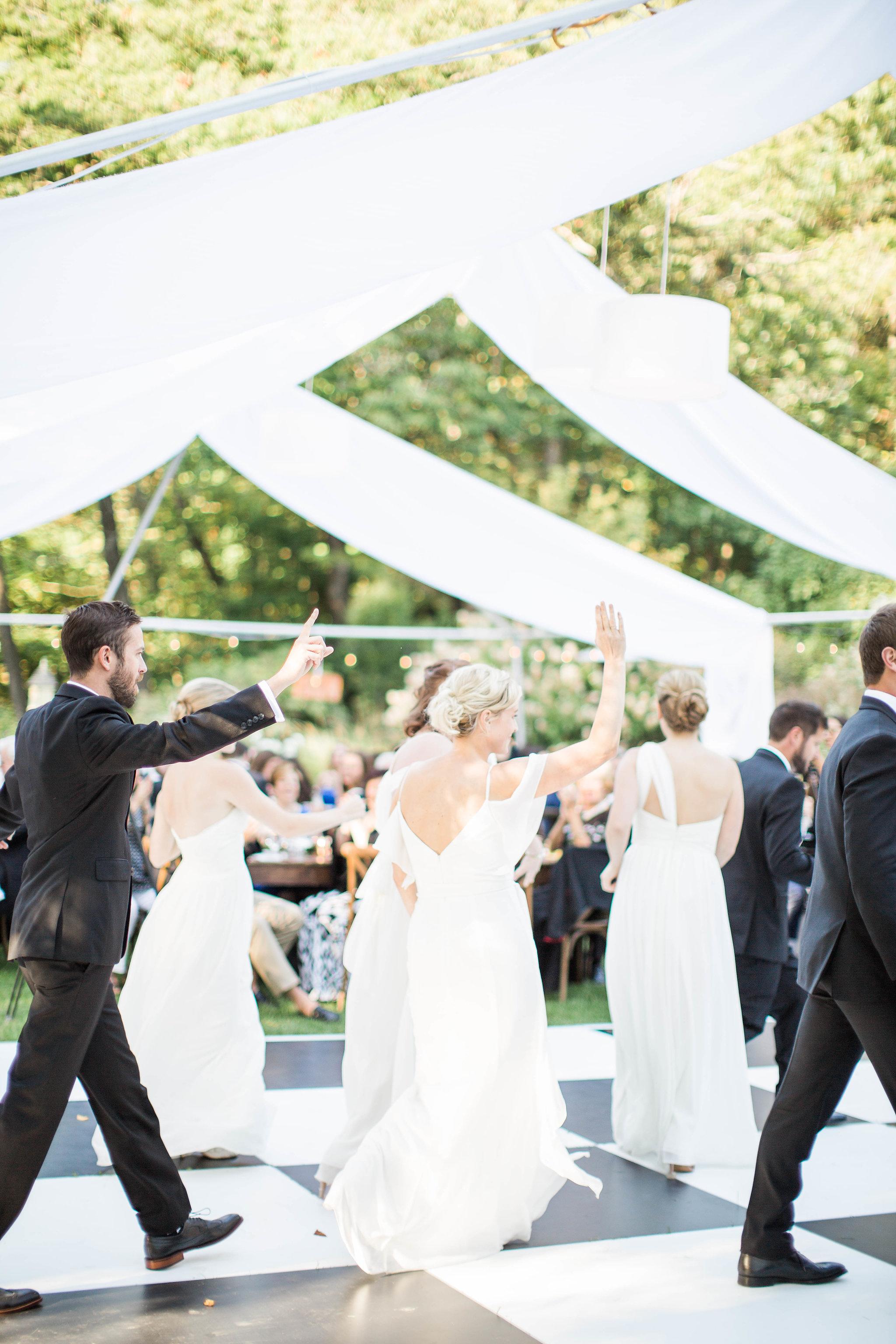 Fernwood Botanical Garden wedding reception dancing