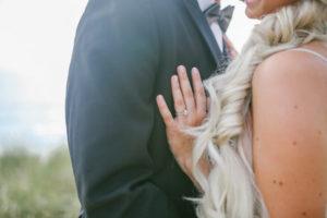Wedding ring on beach