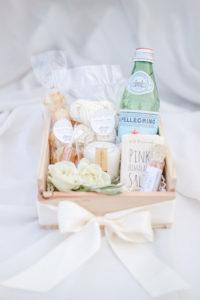 Custom coastal inspired wedding gift box