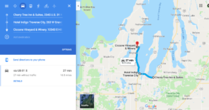 Traverse City, Michigan Wedding Route