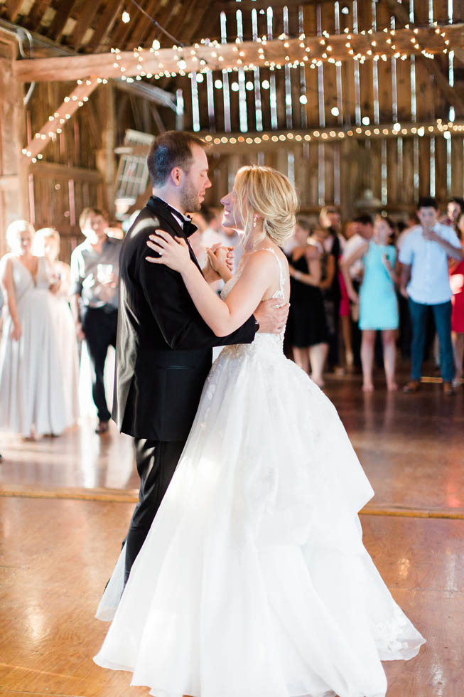 Dancing at rustic wedding venue Northern Michigan
