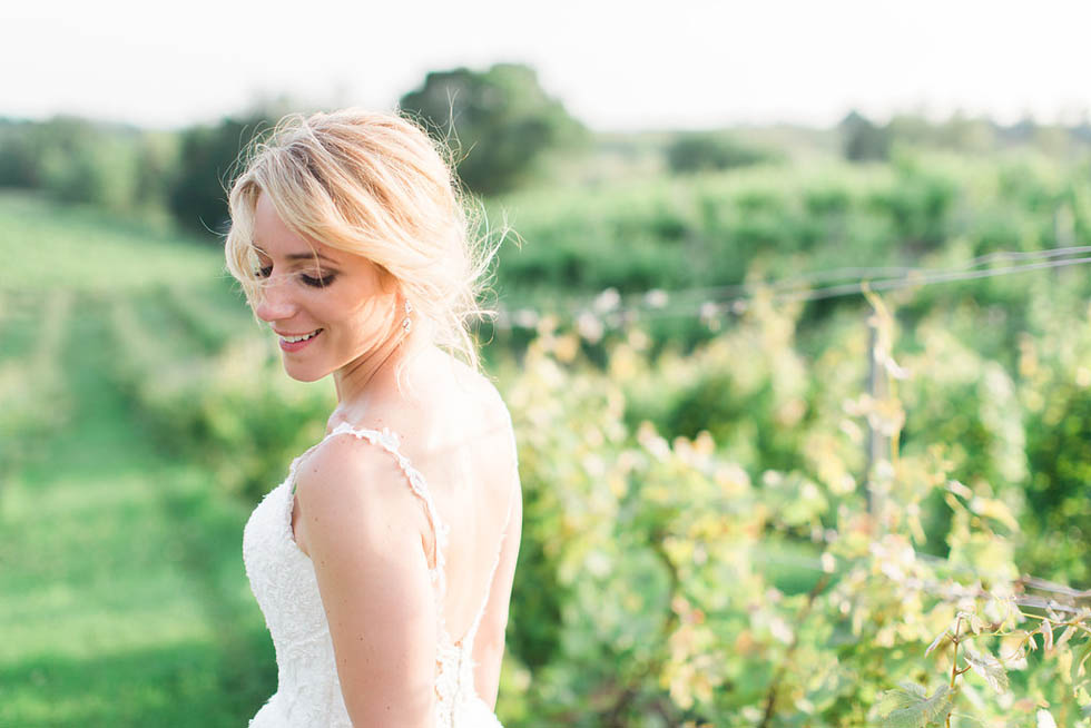 Bridal portrait at Ciccone Vineyards