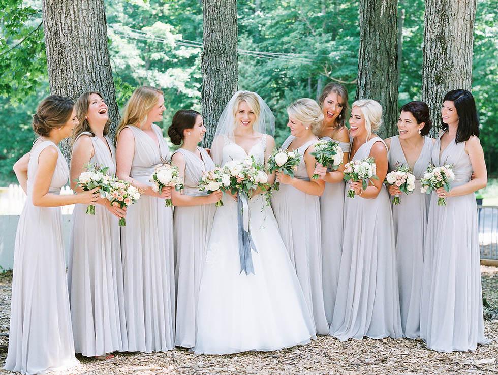 Bridal party at Leelanau Peninsula wedding