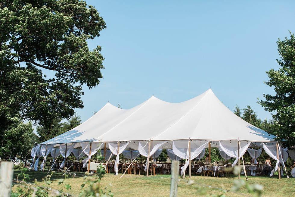 Ciccone Vineyard wedding tented outdoors