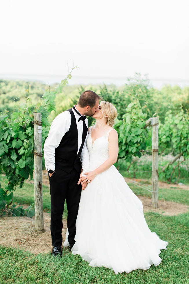 Bride and groom at Ciccone Vineyard wedding