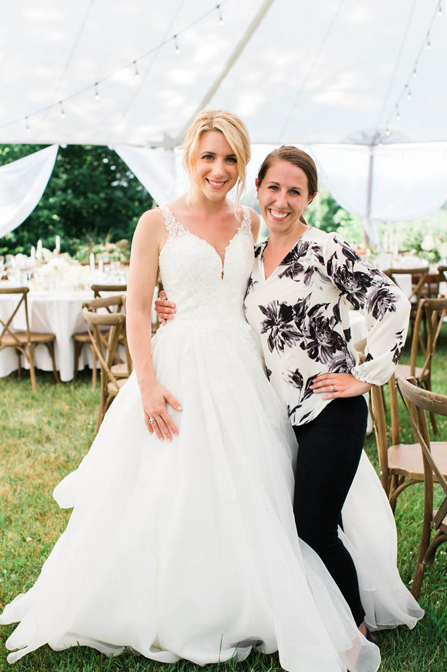 Beautiful bride Stephanie at Ciccone Vineyard with wedding planner Brooke DePauw