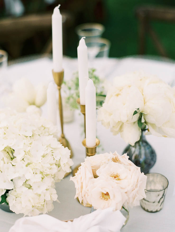 White and gold wedding decor by Stellaluna Events