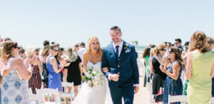 Michigan beach wedding ceremony