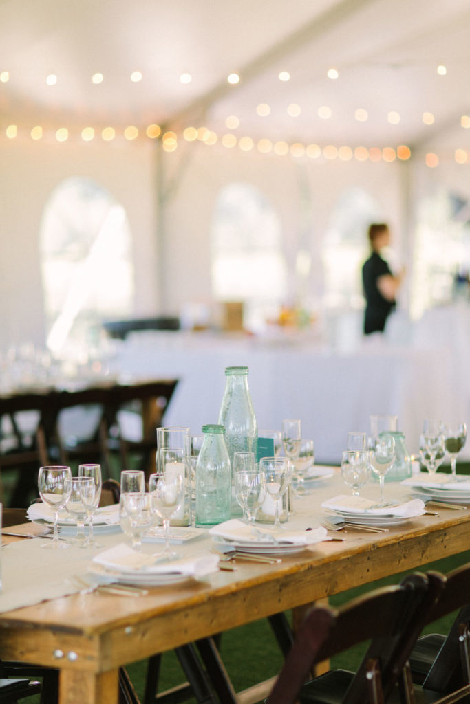 table setting at a 12 Corners Vineyard Wedding