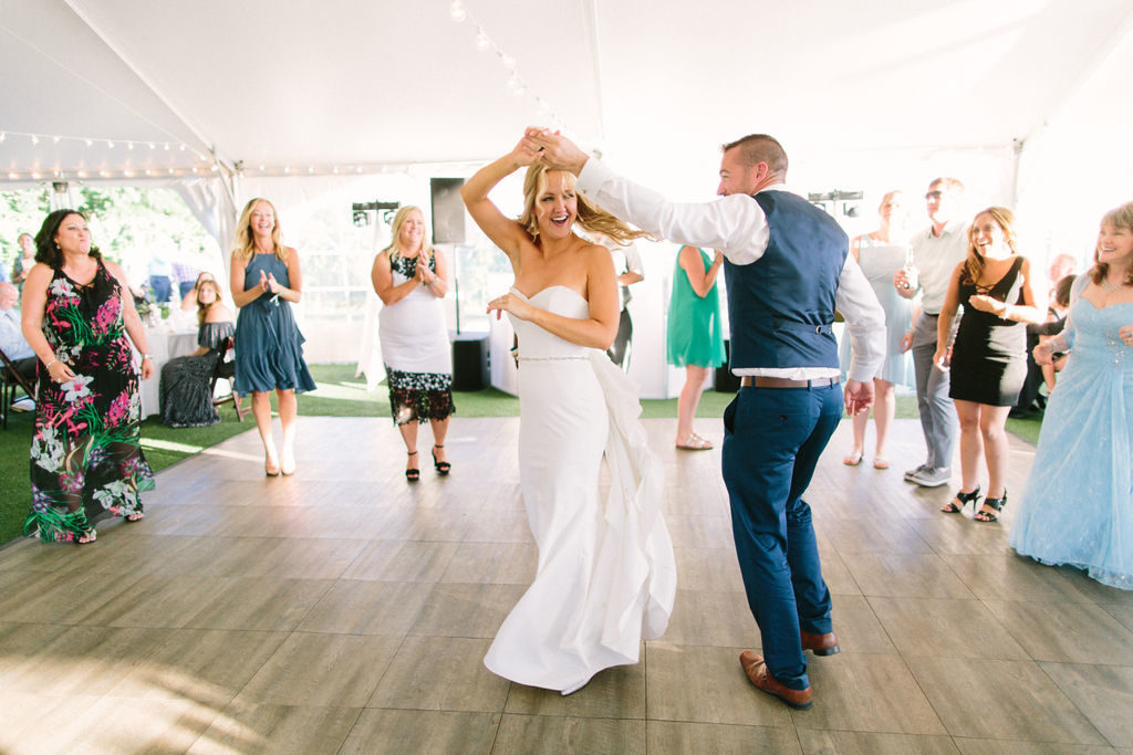 Couple dances the night away at their 12 Corners Vineyard Wedding