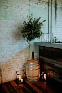 Journeyman Distillery wedding bar