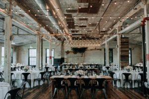 Journeyman Distillery wedding reception
