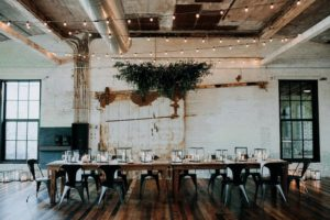 Journeyman Distillery wedding head table
