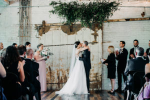 Ceremony at a Journeyman Distillery wedding