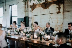 Head table at a Journeyman Distillery wedding