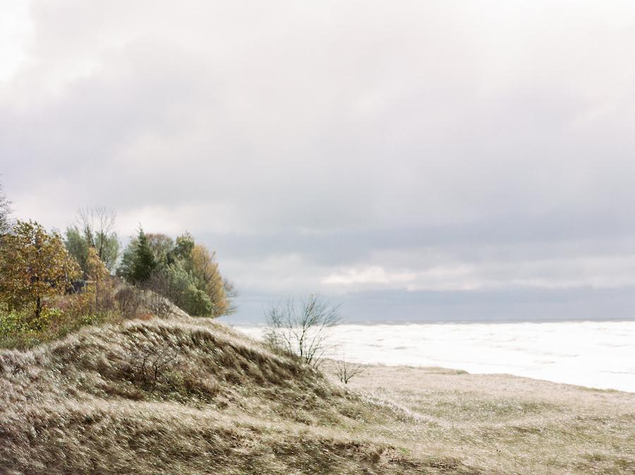 The beach at a camp blodgett wedding