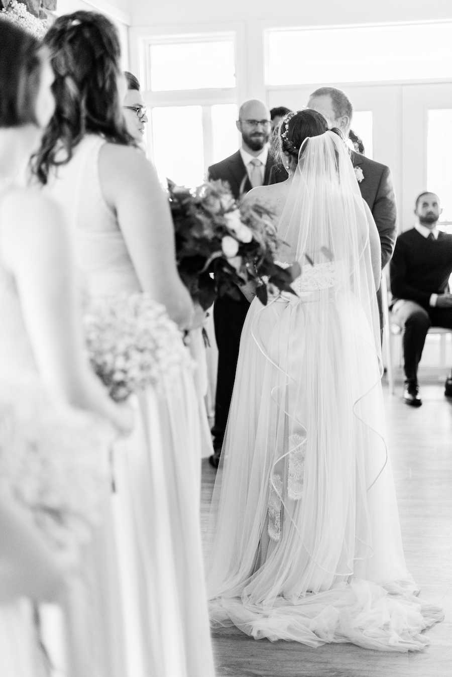 Wedding ceremony at a camp blodgett wedding