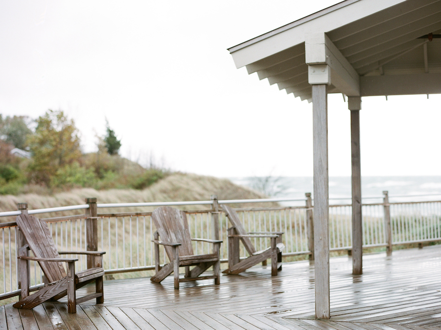 The deck at Camp Blodgett in West Olive, MI