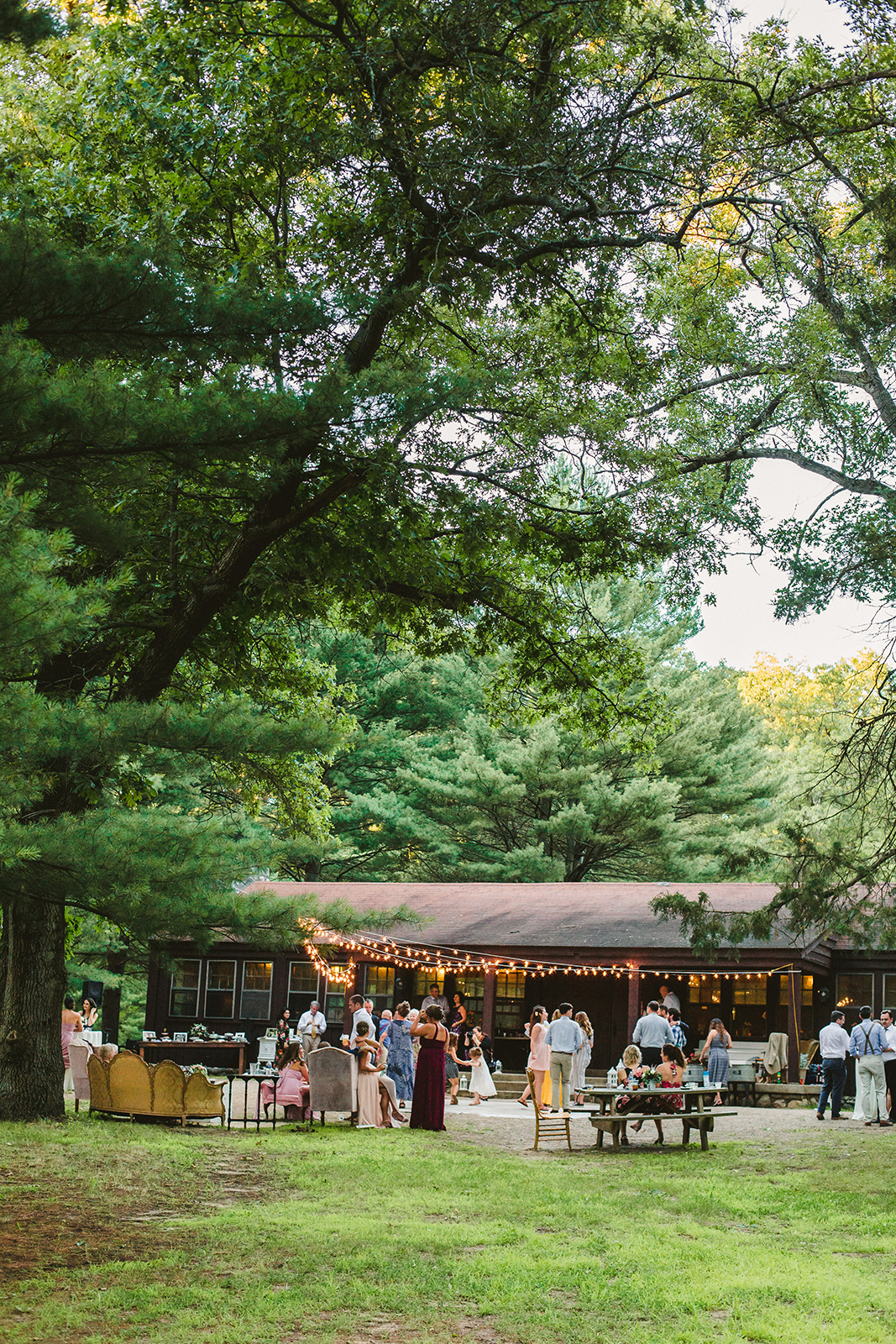 Guests dancing at a Long Lake Outdoor Center wedding