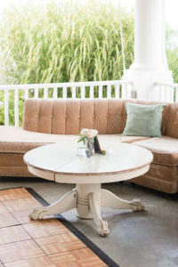 Soft seating at a Shelbyville, Michigan wedding