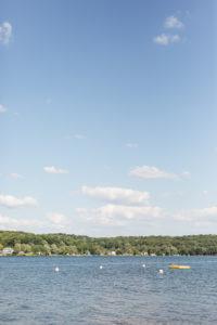 Gun lake during a Bay Pointe Inn wedding in Shelbyville, Michigan