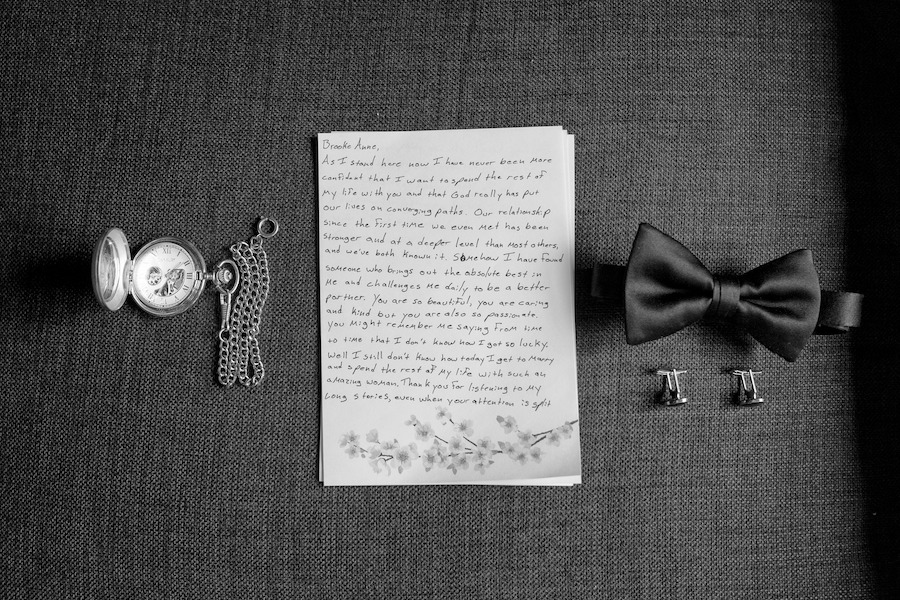 A groom's vows and tie