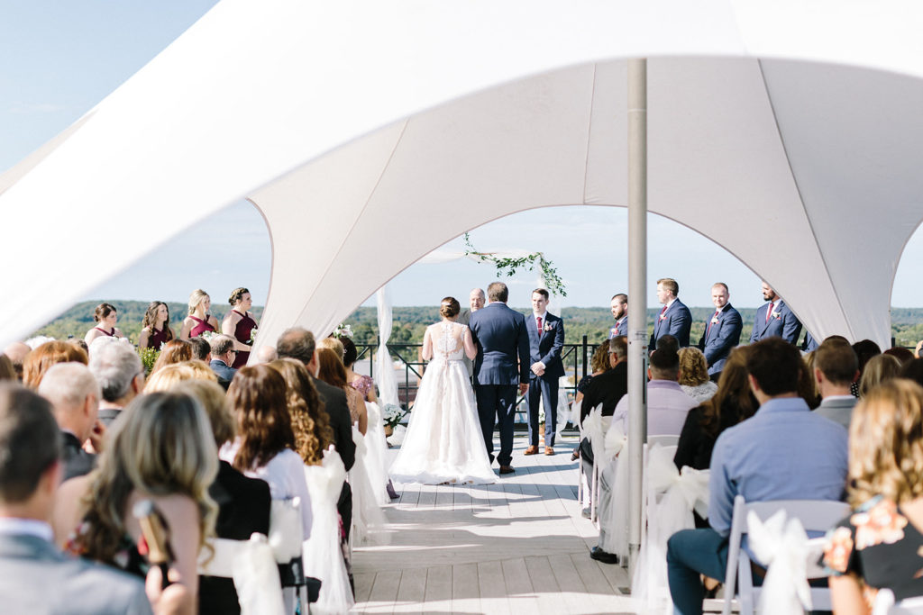 A Loft 310 wedding ceremony taking place on the Sky Deck