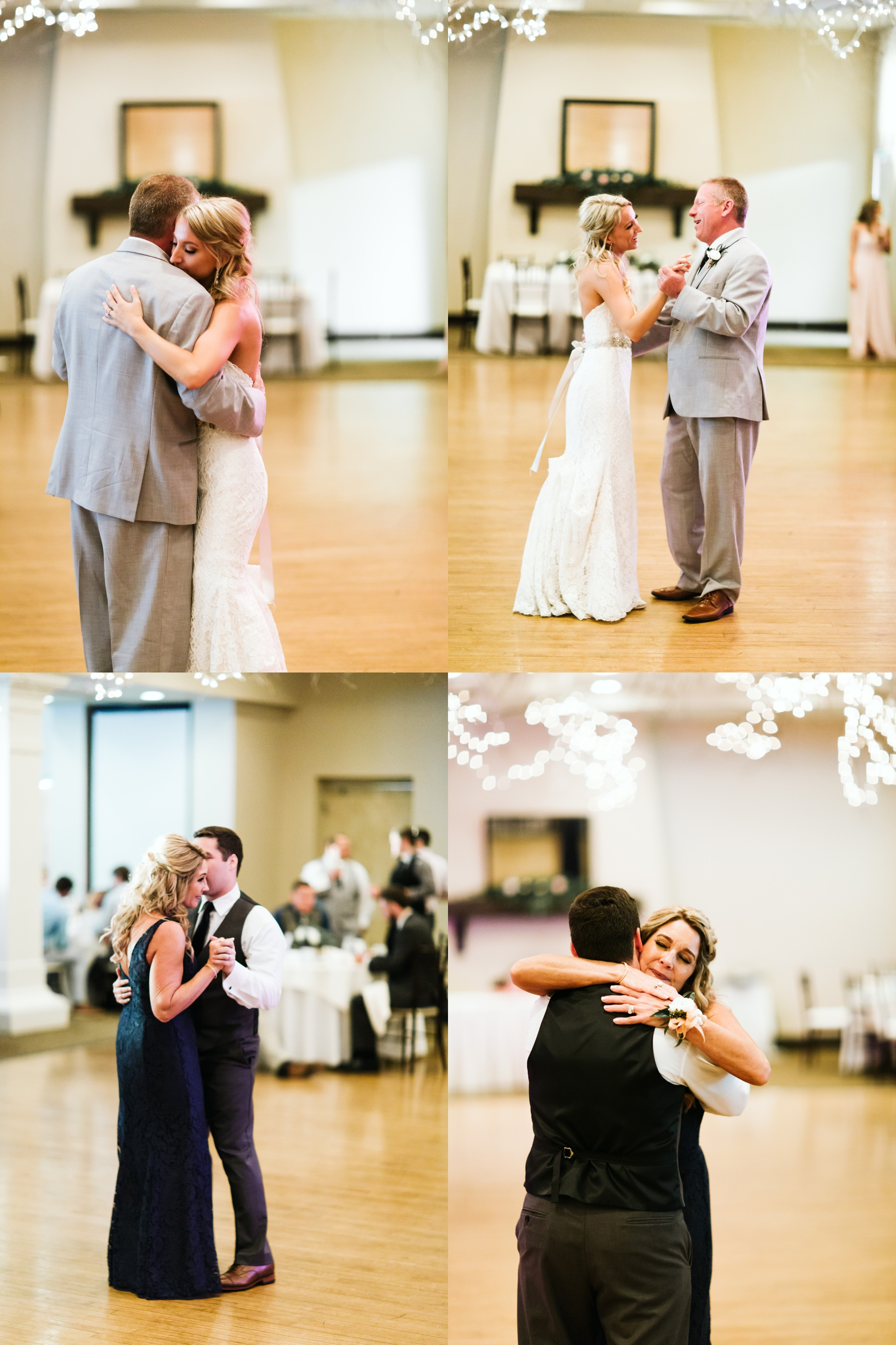 A bride and groom sharing their dances with their parents