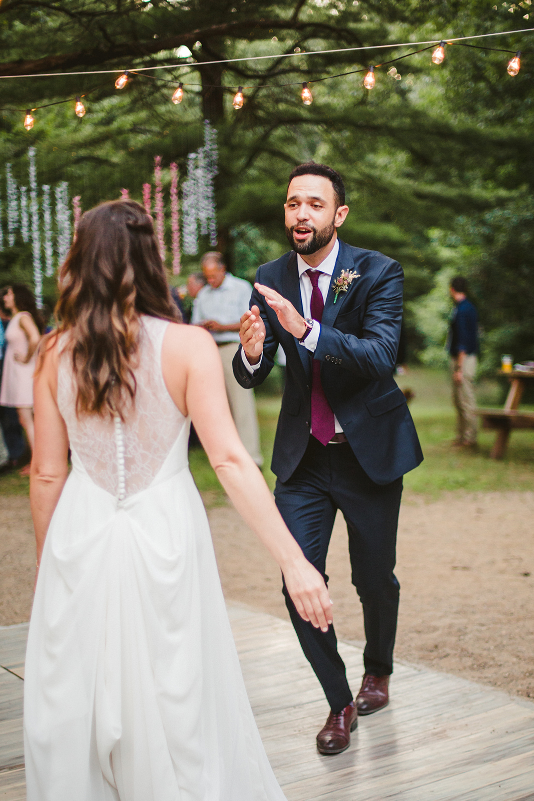 Dan & Elizabeth dancing during their Long Lake Outdoor Center Wedding