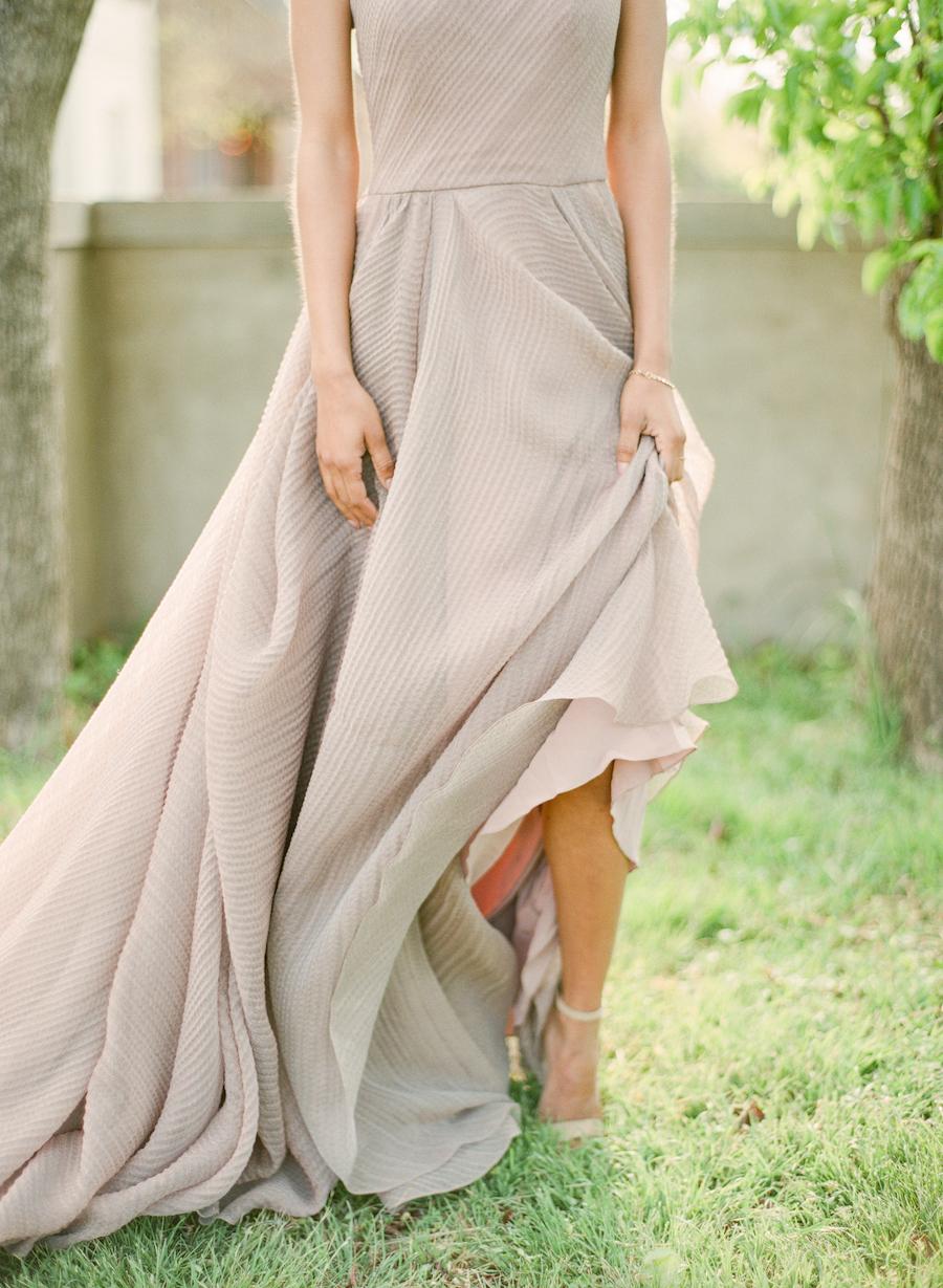 Mauve wedding dress