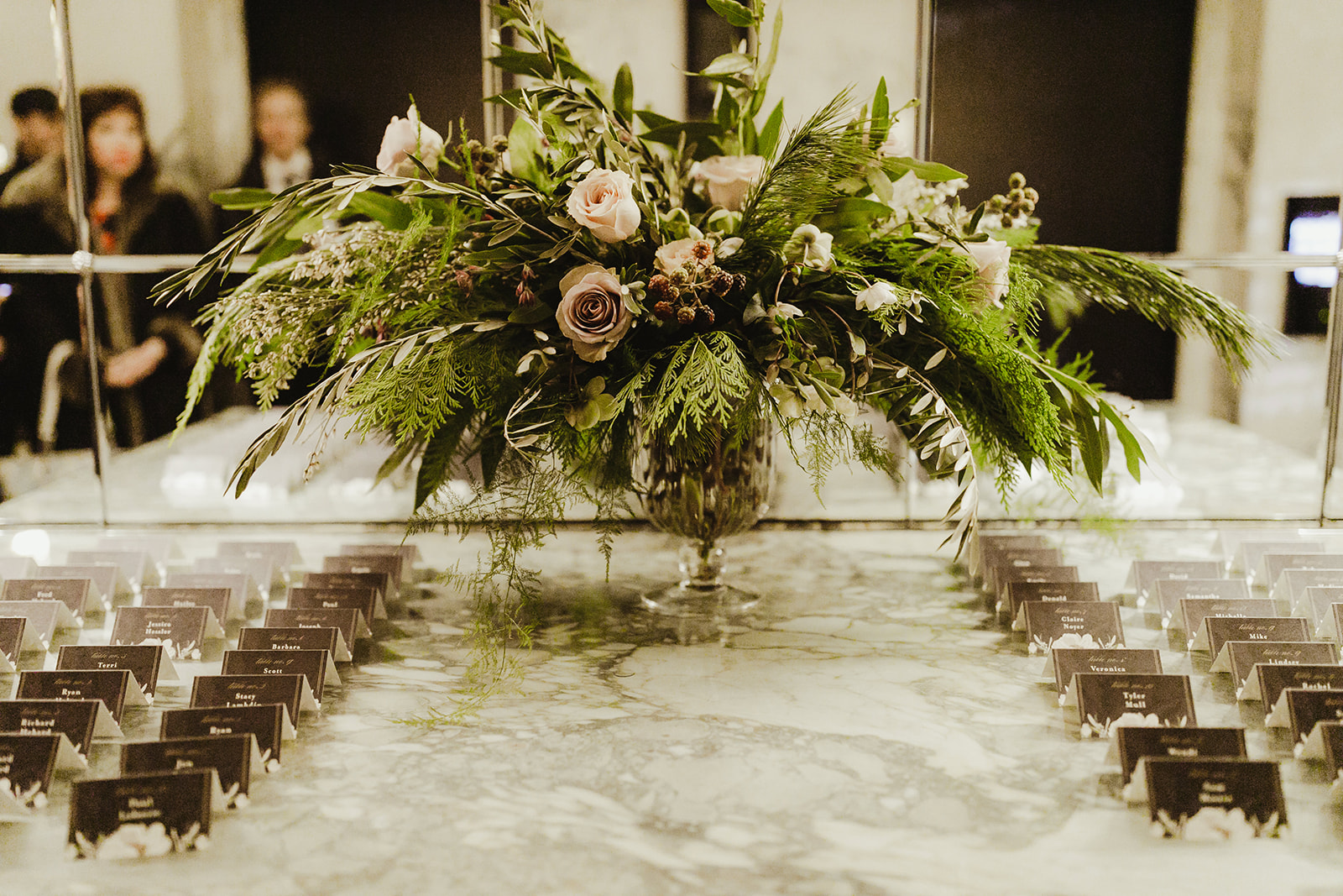 A beautiful winter floral arrangement