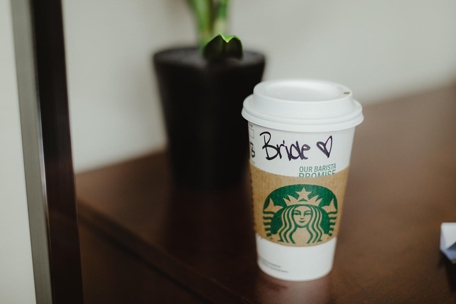 A starbucks Bride cup