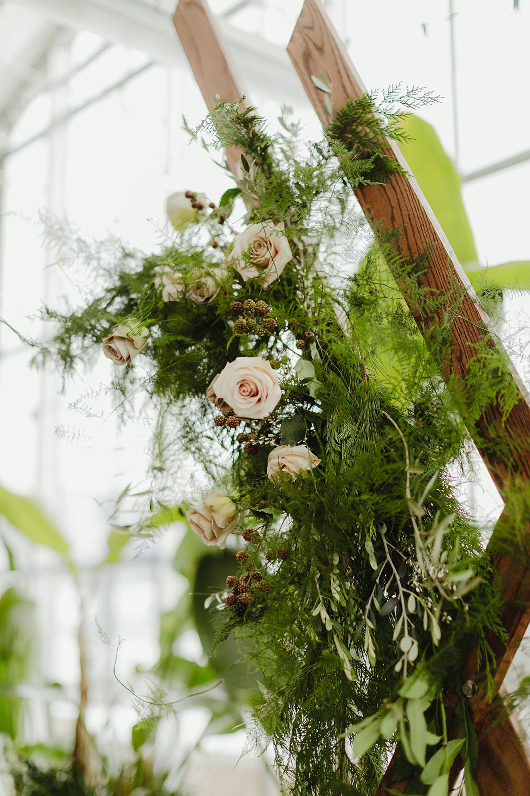 Beautiful flowers set for a Grand Rapids, MI wedding