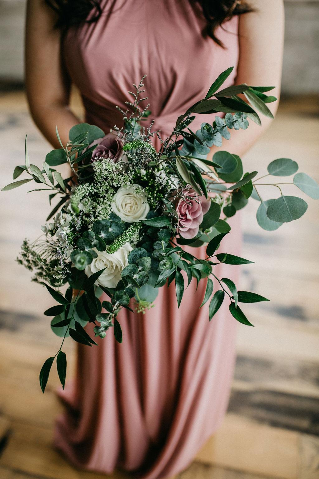 A bridesmaids bouquet