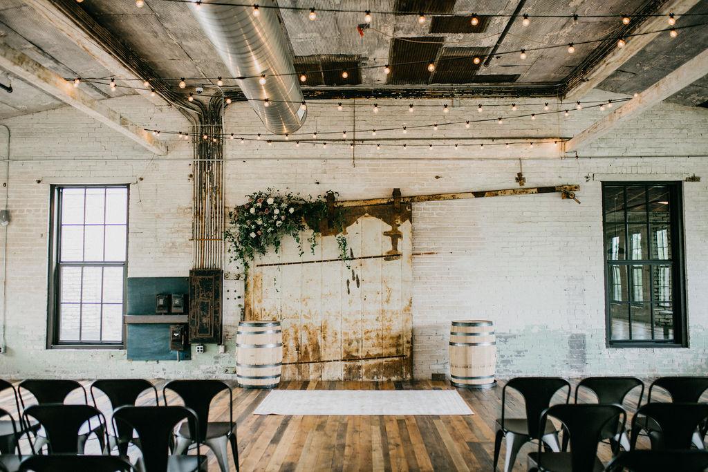 Journeyman Distillery wedding ceremony
