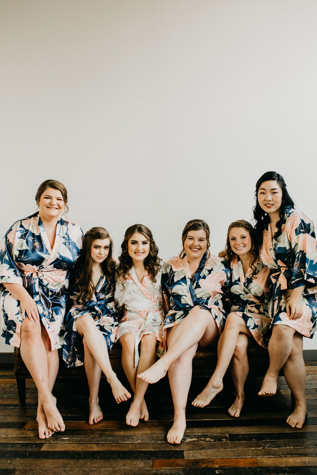 Bridesmaids getting ready before a wedding day