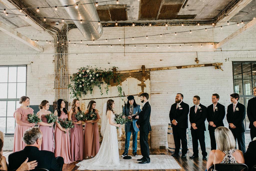 A wedding ceremony in Three Oaks, MI