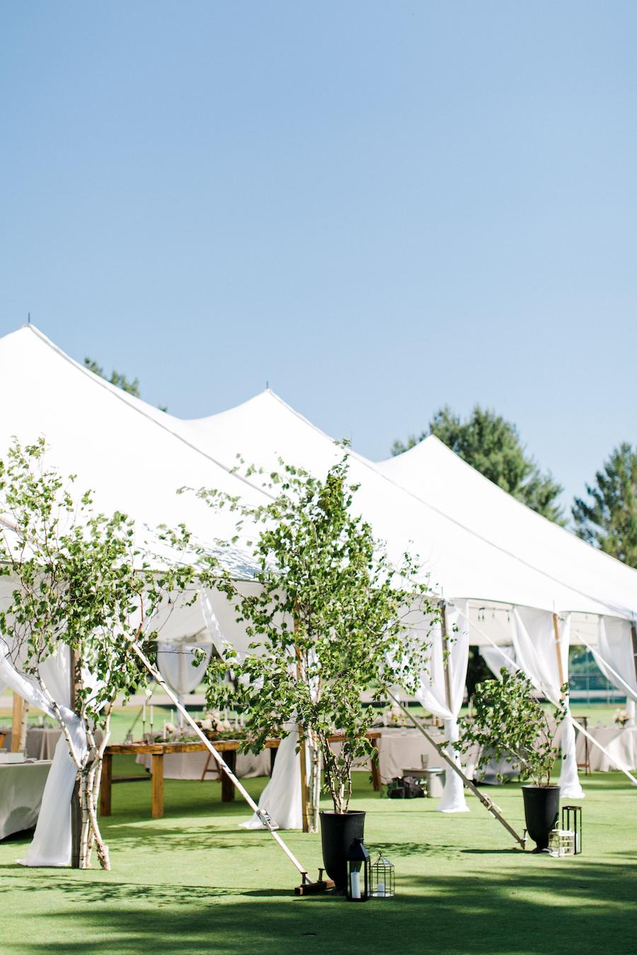 A tented Boyne Mountain resort wedding