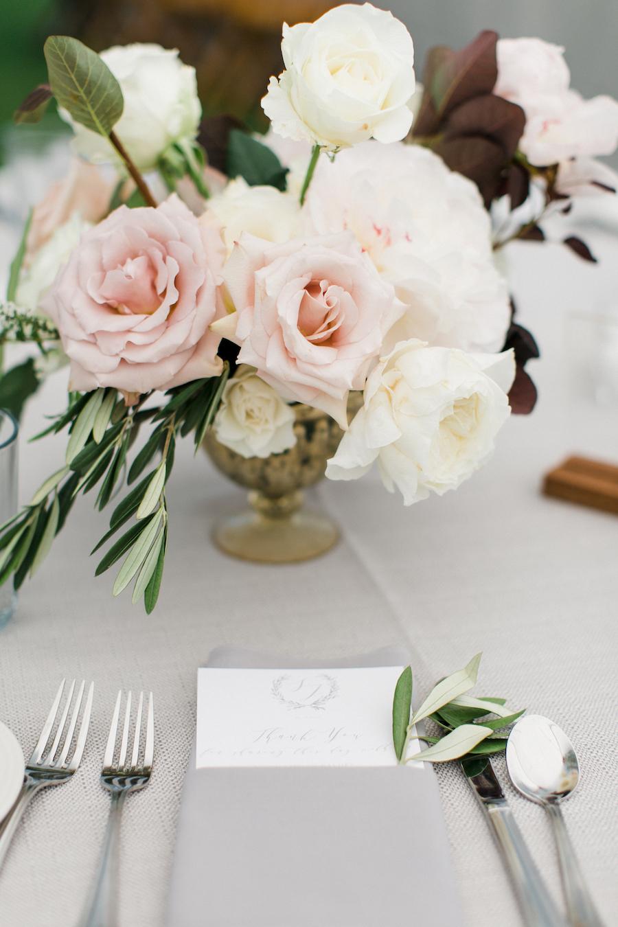 A blush floral arrangement