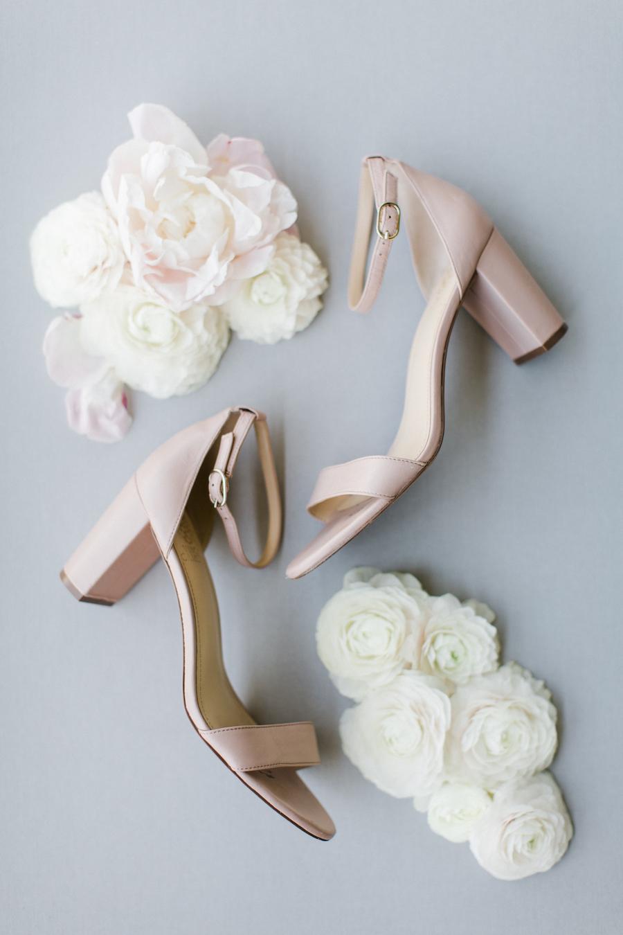 Blush wedding shoes