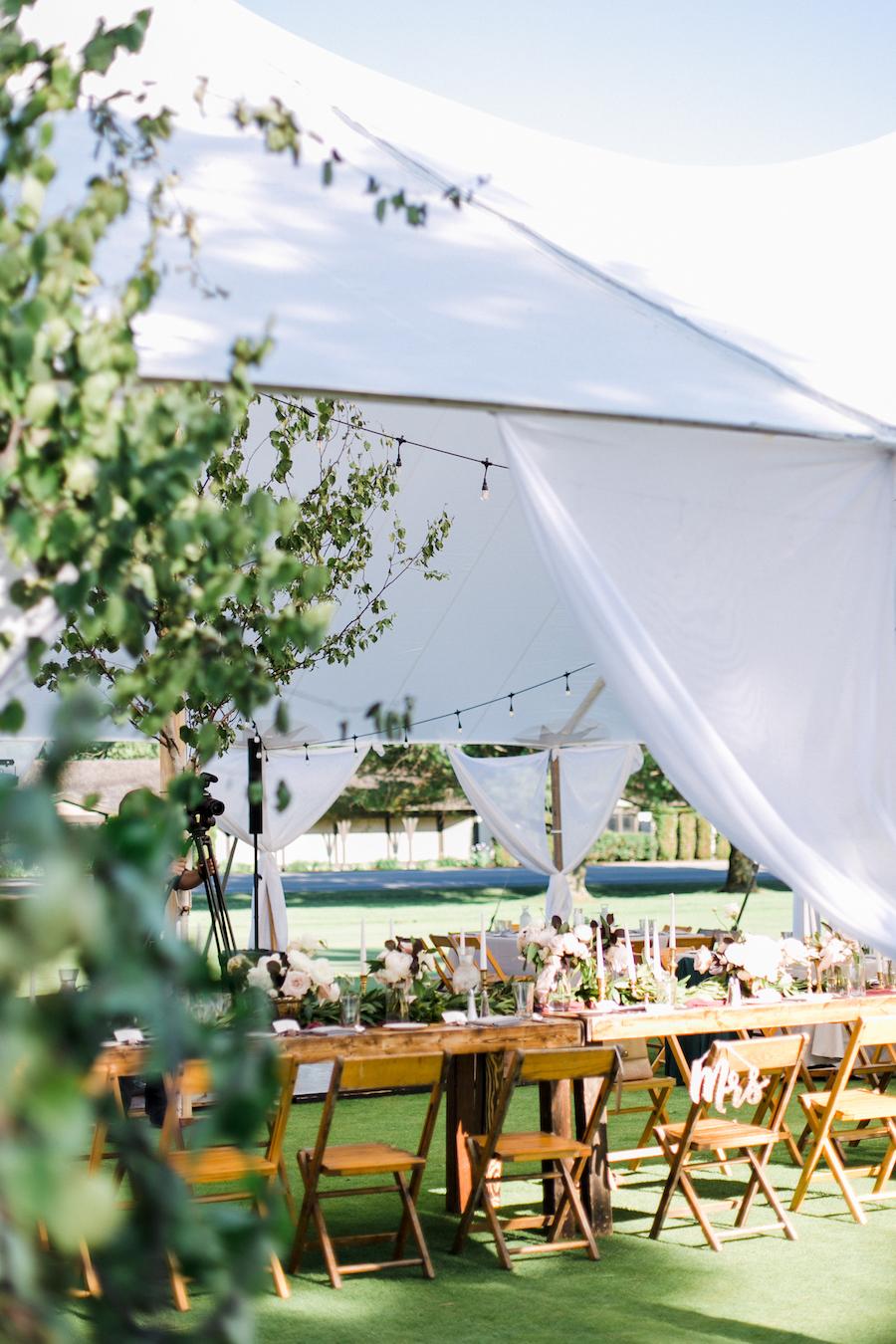 A garden inspired tent