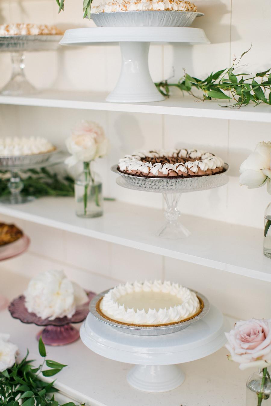 A wedding pie bar