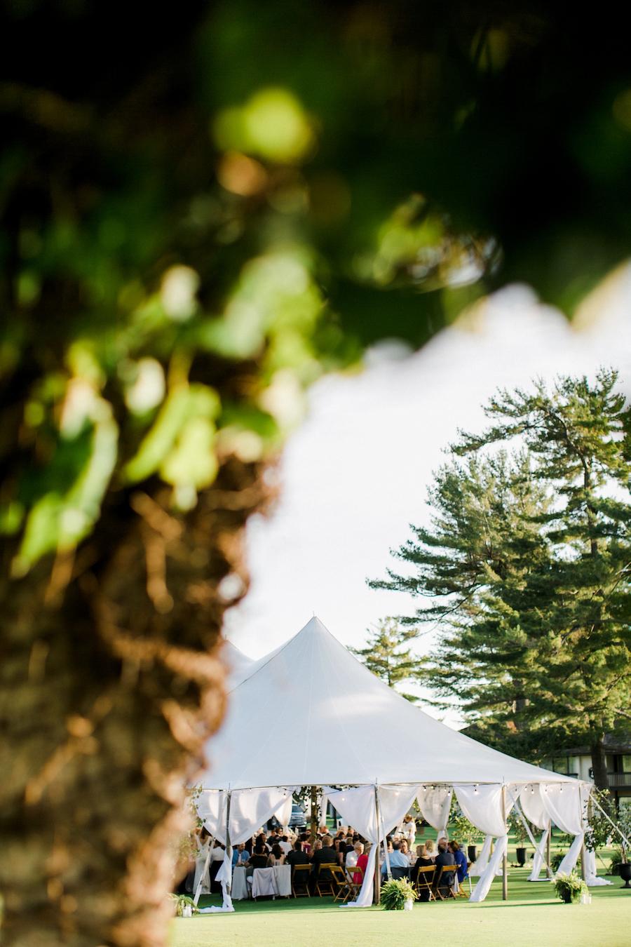 A garden inspired tented wedding