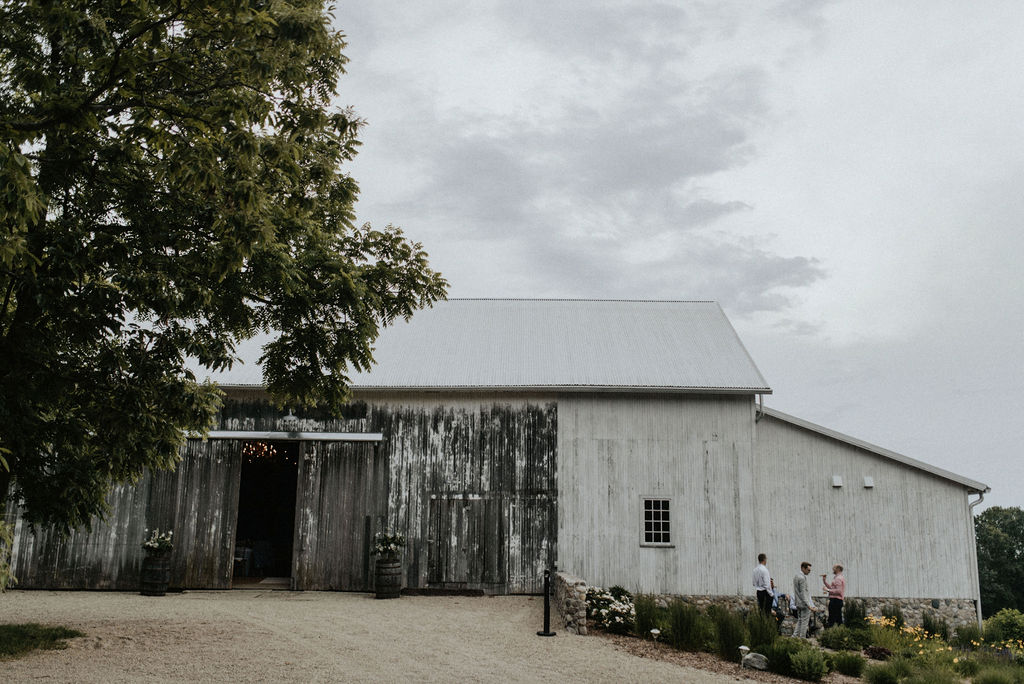 Outside of Hidden Vineyard Wedding Barn