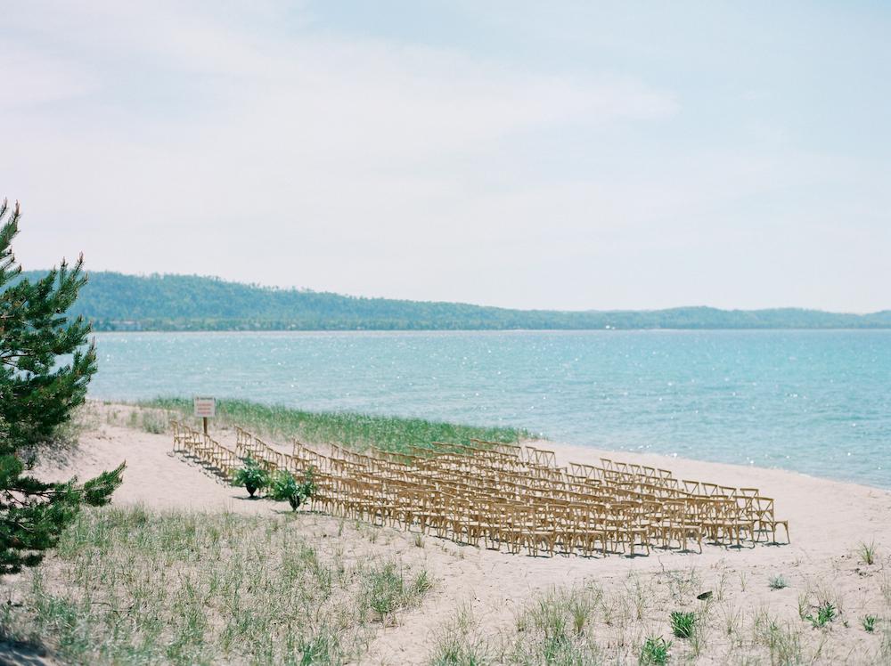 A Lake Michigan beach wedding in Glen Arbor, Michigan