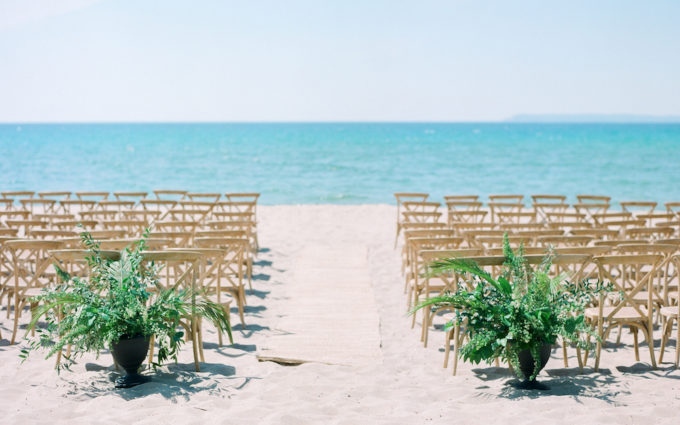 A leelanau school wedding on the beach
