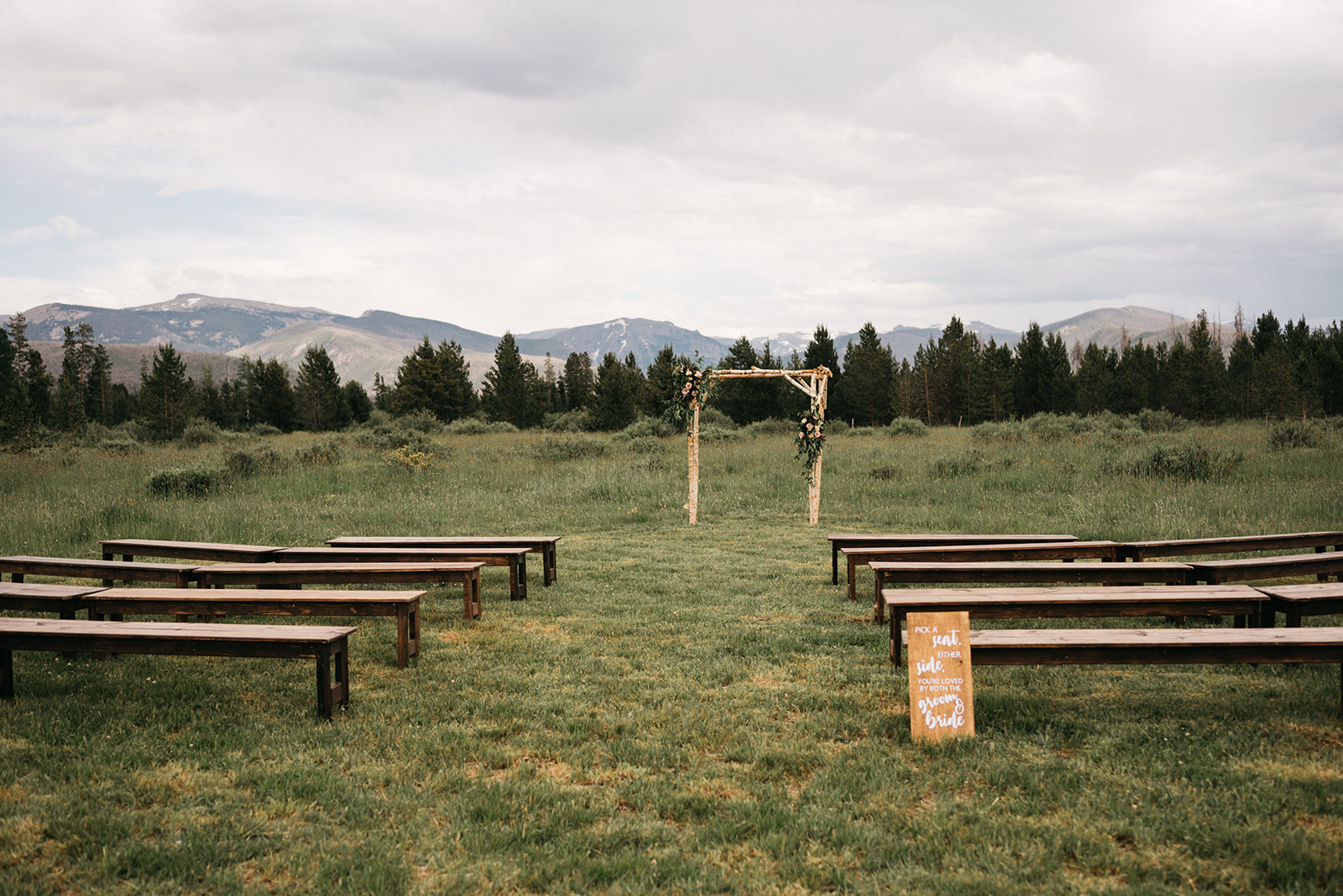 Rocky mountain wedding ceremony
