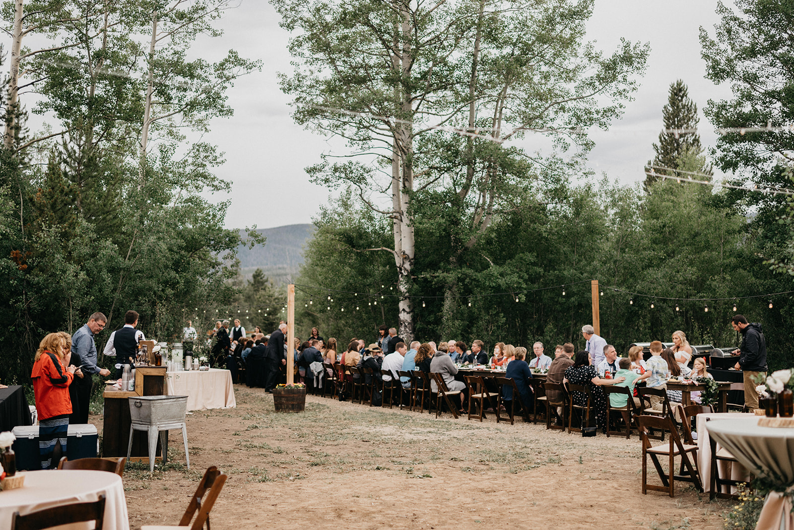 Colorado wedding reception