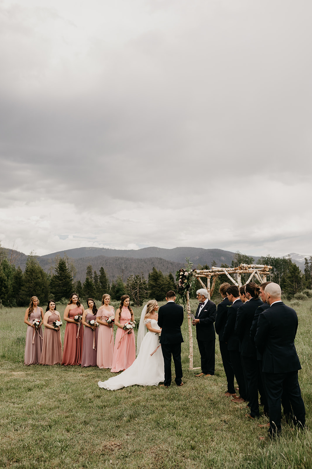 A mountain wedding ceremony